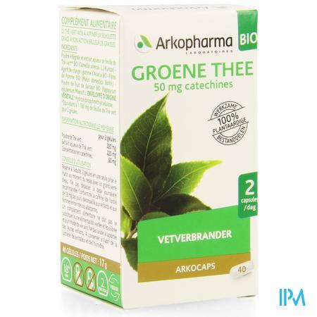 Arkocaps Groene Thee Bio Caps 40
