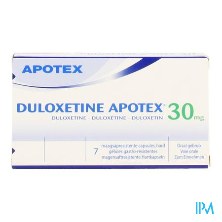 Duloxetine Apotex 30 mg Maagsapresist. Capsule 7