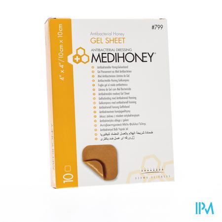 Medihoney Gel Sheet Dressing 10cm x 10cm 10 stuks