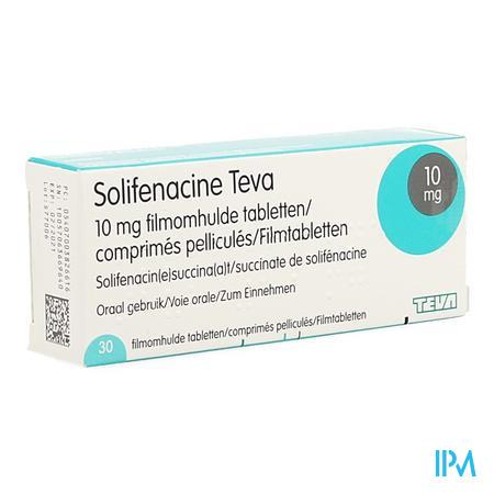 Solifenacine Teva Filmomh Tabl 30 X 10mg