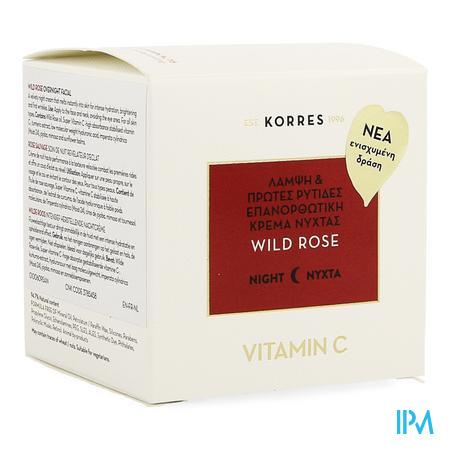 Korres Kf Wild Rose Advance Repair Nacht Cr. 40ml