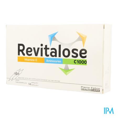 Afbeelding Revitalose C 1000 met Vitamine C en Aminozuren 14 x 2 Ampulles.