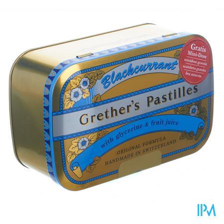 Grether's Pastilles Blackcurrant Pastille 440 gr  -  Melisana