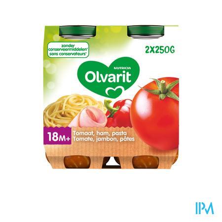 Olvarit Macaroni Tomaat Ham 2x250g 18m03