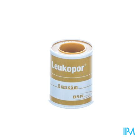 Leukopor Deksel Kleefpleist. 5,00cmx5,0m 1 0247400