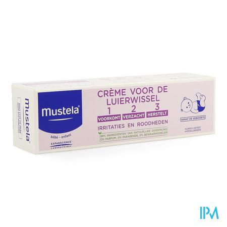 Afbeelding Mustela Baby Crème Voor de Luierwissel - Voorkomt, Verzacht en Herstelt Irritaties en Roodheden 50 ml.