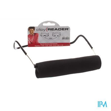 Clipyreader Bril +2.50 Zwart