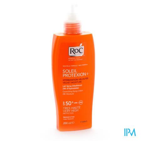 Afbeelding Roc Soleil Protexion Verfrissende Zonnemelk met SPF 50+ voor 24 uur Hydratatie Spray 200 ml.