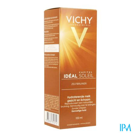 Afbeelding Vichy Ideal Soleil Zelfbruiner Hydraterende Melk voor Gezicht en Lichaam 100 ml.