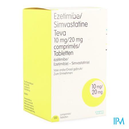 Ezetimibe Simvastatine EG 10 mg/20 mg Tabletten 100
