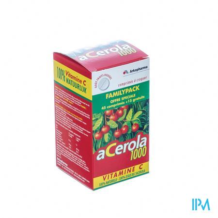 Arkovital Acerola 1000 Familypack Comprimés A Macher 60