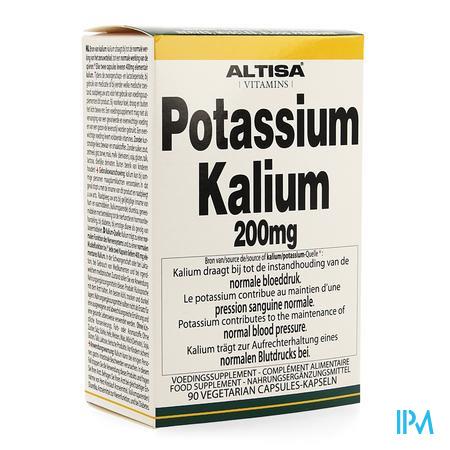 Altisa Kalium-potassium (citrat) 200mg V-caps 90