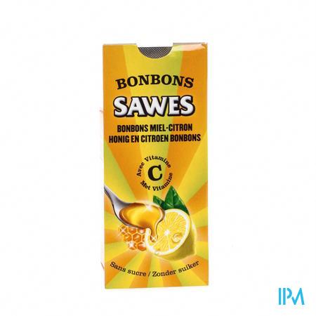 Afbeelding Sawes Honing en Citroen Bonbons met Vitamine C zonder Suiker 10 Stuks.