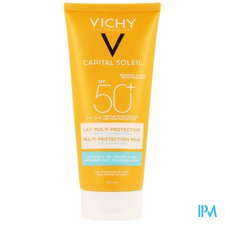 Vichy Cap. Sol. Beach Protect Zonnemelk Ip50 200ml