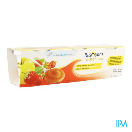 Resource Energy Fruit Pomme-fraise Cups 3x125g
