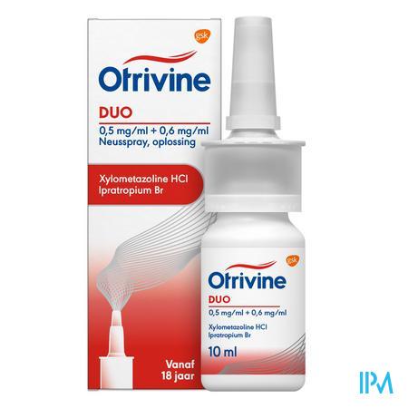 Otrivine Duo 0,5/0,6 Spray Nas 10 ml