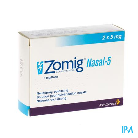 Zomig Nasal5 - 2 Sprays X 5mg