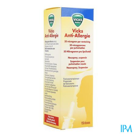 Afbeelding Vicks Anti-Allergie Neusspray 150 Doses.