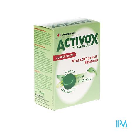 Activox Pastillen Munt / Eucalyptus Zonder Suiker