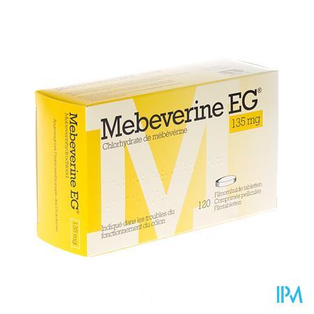 Mebeverine EG 135 mg Comprimés Pelliculés 120 X 135 mg
