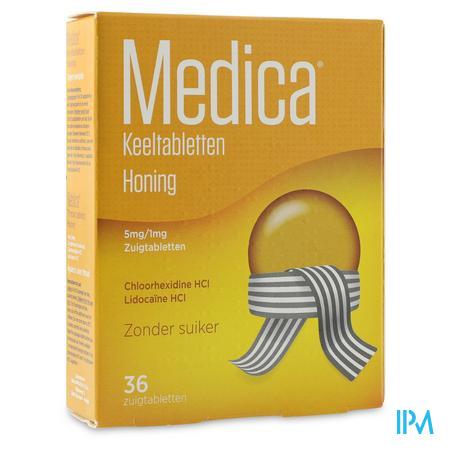 Medica Keeltabletten Honing 36 zuigtabletten