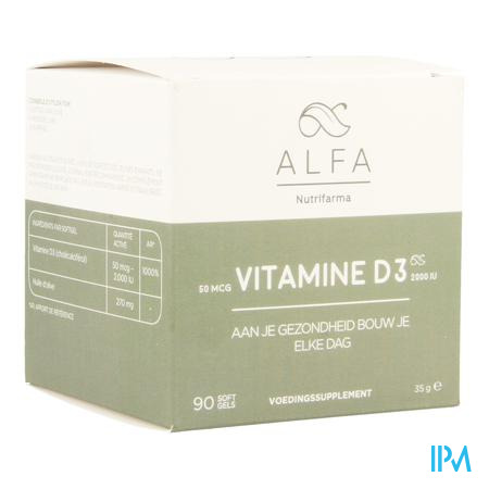 Alfa Vitamine D3 2000iu Softgels 90