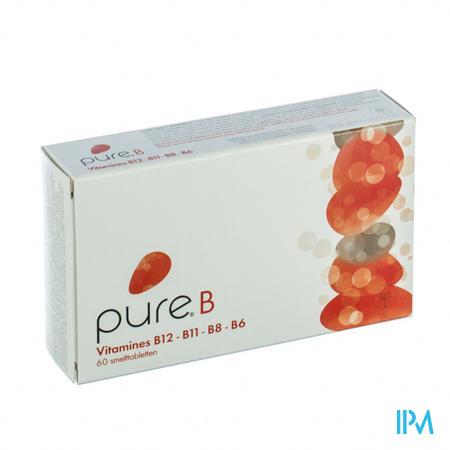 Afbeelding Pure B Smelttabletten 60 stuks.