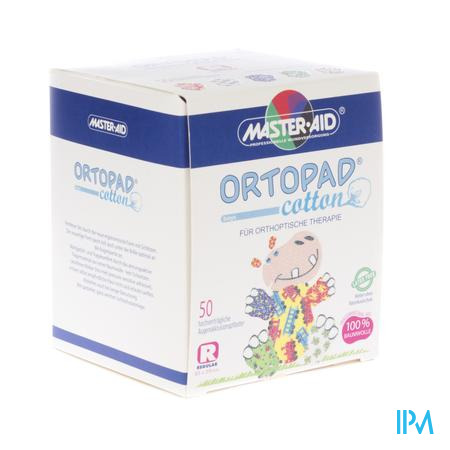 Ortopad Cotton Regular Boys Oogpleisters 50 stuk