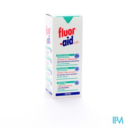 Farmawebshop - FLUOR AID 0,05% MONDSPOELMIDDEL 500ML 3104