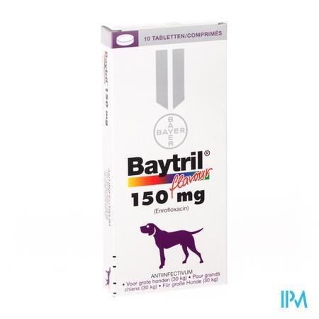 Baytril Flavour Hond/kat Tabl 10 X 150mg