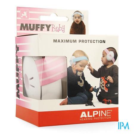 Afbeelding Alpine Muffy Baby Gehoorbeschermingskoptelefoon voor Baby's in Roze 1 Stuk.
