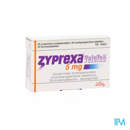 Zyprexa Velotab 5mg Comp Orodisp 28 X 5mg