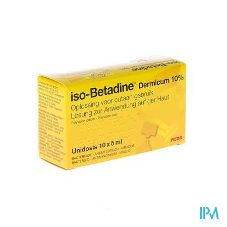 Farmawebshop - ISO BETADINE DERM 10% UNIDOSE FL 10X5ML