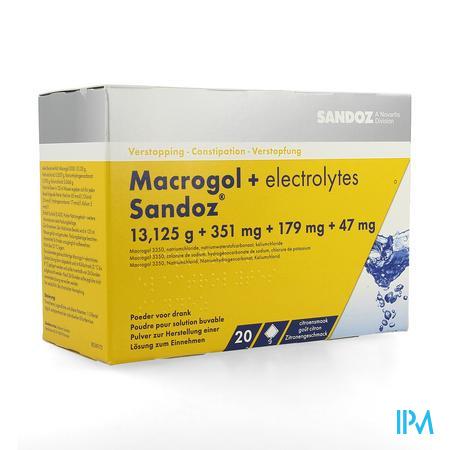 Macrogol + Elektr Sandoz Poeder Ciroensmaak 20x13,7g