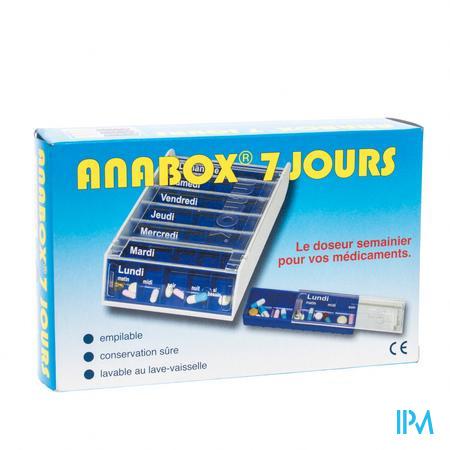 Anabox Pilulier Bleu 7 Jours