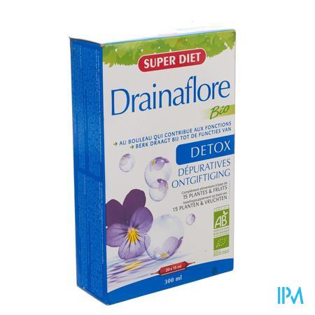 Super Diet Drainaflore Bio 15ml 20 ampullen