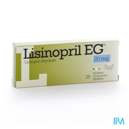 Lisinopril Eg Comp 28 X 20mg