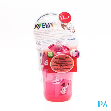 Avent Drinkbeker 260 Ml Anti-Lek + Rietje 12m 1 stuk