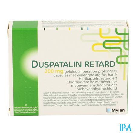 Duspatalin Retard 200mg Verl.afgifte Caps 30