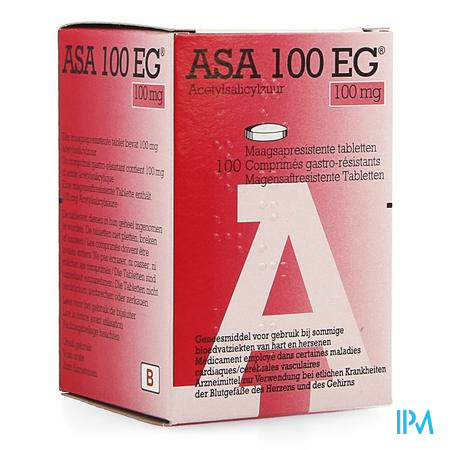 Asa 100 Eg 100mg Maagsapresist. Tabl 100 Pot