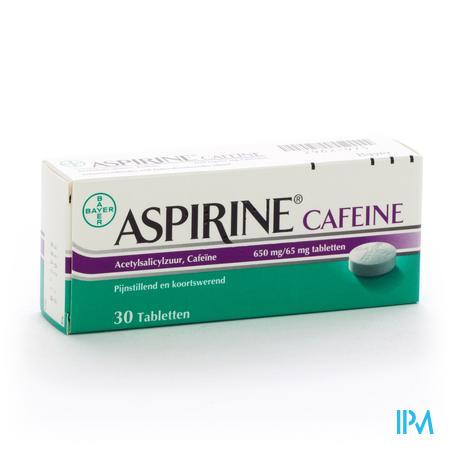 Afbeelding Aspirine Cafeîne 30 tabletten.