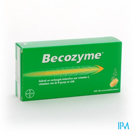Farmawebshop - BECOZYME COMP EFF - BRUISTABL 30