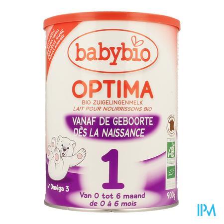 Babybio Optima 1 Zuigel.melk Bio Bifidus 0-6m 900g