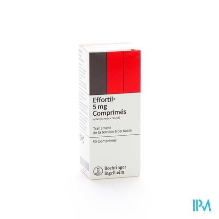 Effortil Comprimes 50 X 5 mg