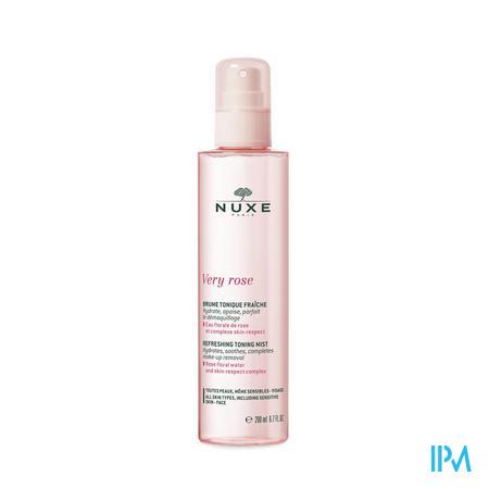 Afbeelding Nuxe Very Rose Verfrissende Tonic Mist met Rozenwater en Skin-Respect Complex voor Gelaat voor Alle Huidtypes Sprayflacon 200 ml.