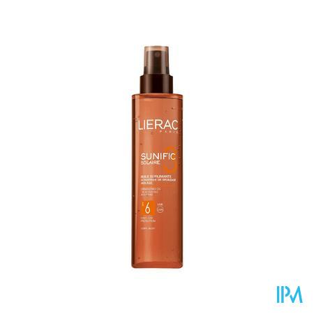 Afbeelding Lierac Sunific Sublimerende Droge Zonne-Olie met SPF 6 voor Lichaam 125 ml.