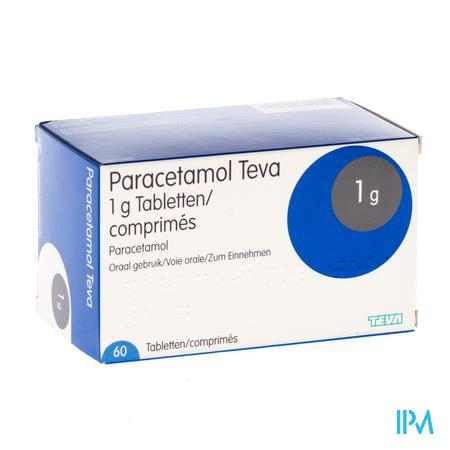Paracetamol Teva 1g Tabl 60 X 1g Blister