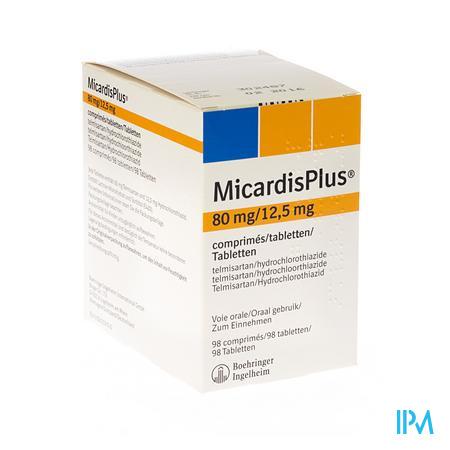 Micardisplus Comp 98 X 80mg/12,5mg
