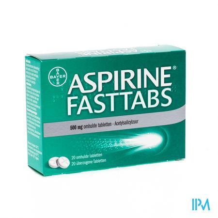 Afbeelding Aspirine Fasttabs 500mg 20 tabletten.