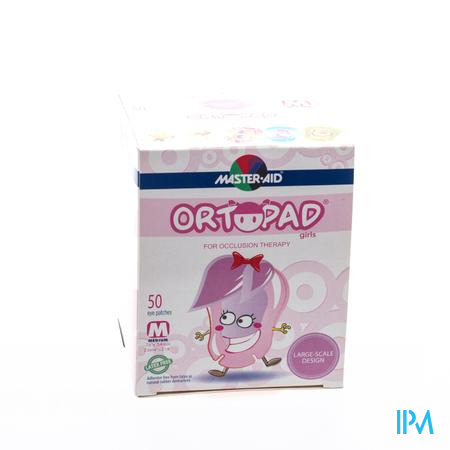 Ortopad For Girls Medium Oogpleister 50 stuks
